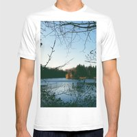 Kingswood Lake Mens Fitted Tee White SMALL
