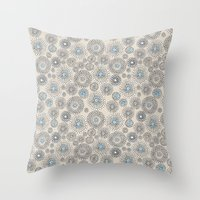 Flower bubble Throw Pillow