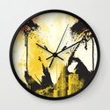 Eagle Eye Watching Wall Clock