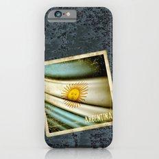 Grunge sticker of Argentina flag Slim Case iPhone 6s