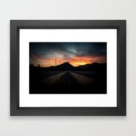 Framed Art Print featuring Atmosphere  by Zee Peralta