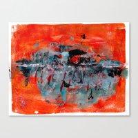 Orange Abstract Canvas Print