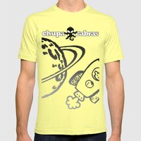 CHUPACABRAS - Light Yellow Edition Mens Fitted Tee Lemon SMALL