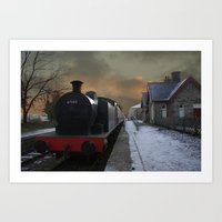 The Train Is In The Station Art Print