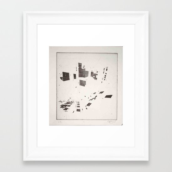 """Windows/Light/Perspective"" Framed Art Print"