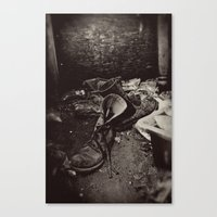 Decaying Boots Canvas Print