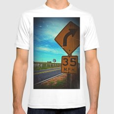 35 mph Mens Fitted Tee White SMALL