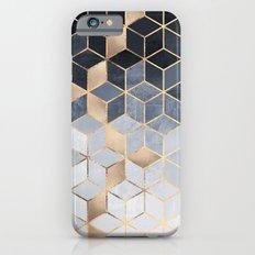 Soft Blue Gradient Cubes Slim Case iPhone 6s
