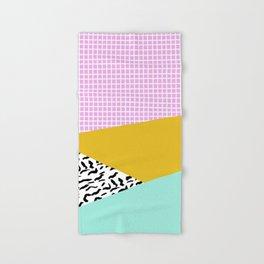 Hand & Bath Towel - Decent - memphis retro neon throwback illustration pop art houseplant socal urban kids trendy art - Wacka