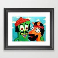 Chumby & Chokey Framed Art Print