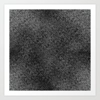 Geo Scribbles White On B… Art Print