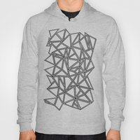 Abstract New Black on White Hoody