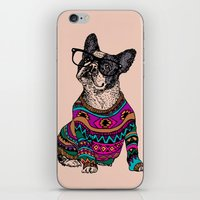 Hipster Frenchie iPhone & iPod Skin