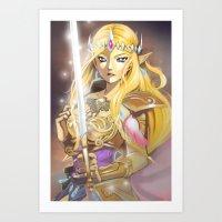 zelda Art Prints featuring Zelda by Mika