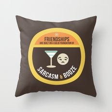 Foundations of Friendship Throw Pillow