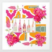 Champagne Everyday Art Print