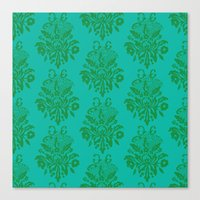 kelly green lace Canvas Print