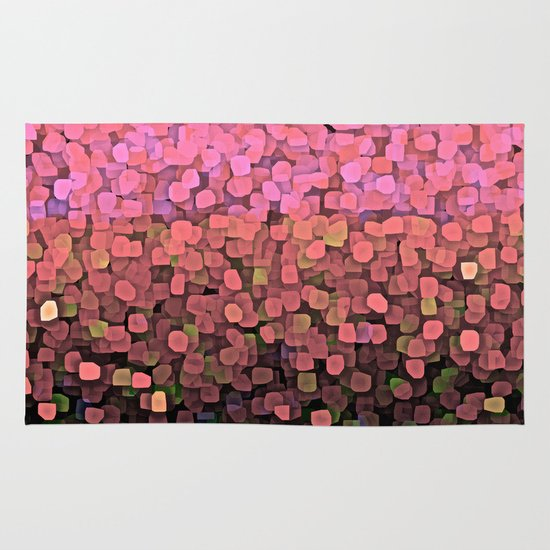 Sparkles And Glitter Pink Rug By Saundra Myles