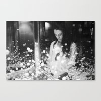 portrait with flying balls Canvas Print