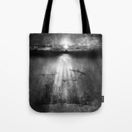 Tote Bag featuring Dolphins, Civilization. by Viviana Gonzalez