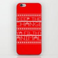 Keep the Change Christmas Sweater RonkyTonk iPhone & iPod Skin