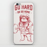 Go Hard or Go Home Sloth iPhone & iPod Skin