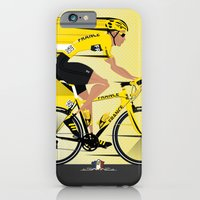 iPhone & iPod Case featuring France Yellow Jersey by Wyatt Design