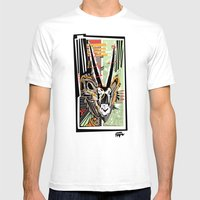Oryx The Gemsbok Mens Fitted Tee White SMALL