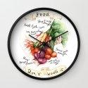 Food Poster Wall Clock