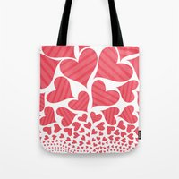 Bursting Hearts Tote Bag