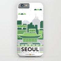City Illustrations (Seoul, South Korea) iPhone 6 Slim Case