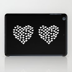 Hearts Heart x2 Black iPad Case