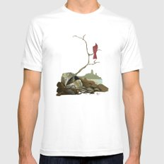 CARDINAL LOOMS SMALL Mens Fitted Tee White