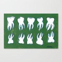 Molar Pattern Canvas Print