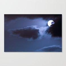 Moon Behind Cloud Canvas Print
