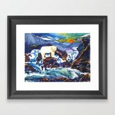 Sunset ♥ Bear Framed Art Print