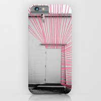 iPhone & iPod Case featuring White Door, Red-Pink Prism by theartistmakena