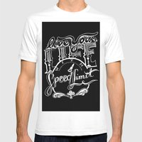 Speed Limit Mens Fitted Tee White SMALL