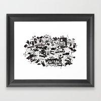 PACHAMAMA - BLK Framed Art Print