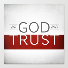 In God We Trust I Canvas Print
