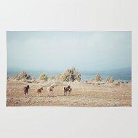 Oregon Wilderness Horses Rug