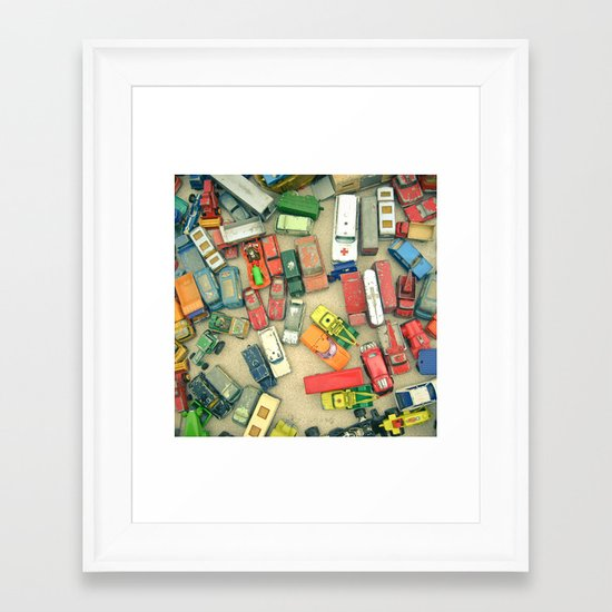 Traffic Jam Framed Art Print