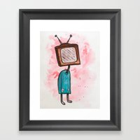 TV Head Framed Art Print