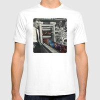 Printing a galaxy  Mens Fitted Tee White SMALL