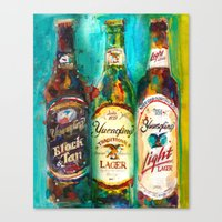 Yuengling Beer - Black A… Canvas Print