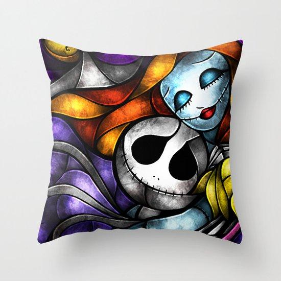 Love at its darkest Throw Pillow