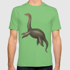 Loch Ness Monster Mens Fitted Tee Grass SMALL