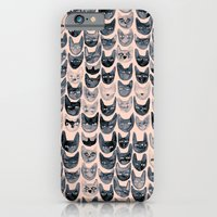 Black & Pink Cats iPhone 6 Slim Case