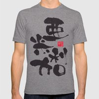 USA Mens Fitted Tee Tri-Grey SMALL