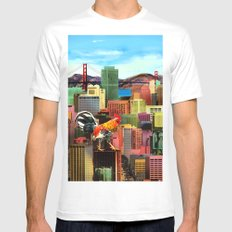 San Francisco City Chicken Mens Fitted Tee SMALL White